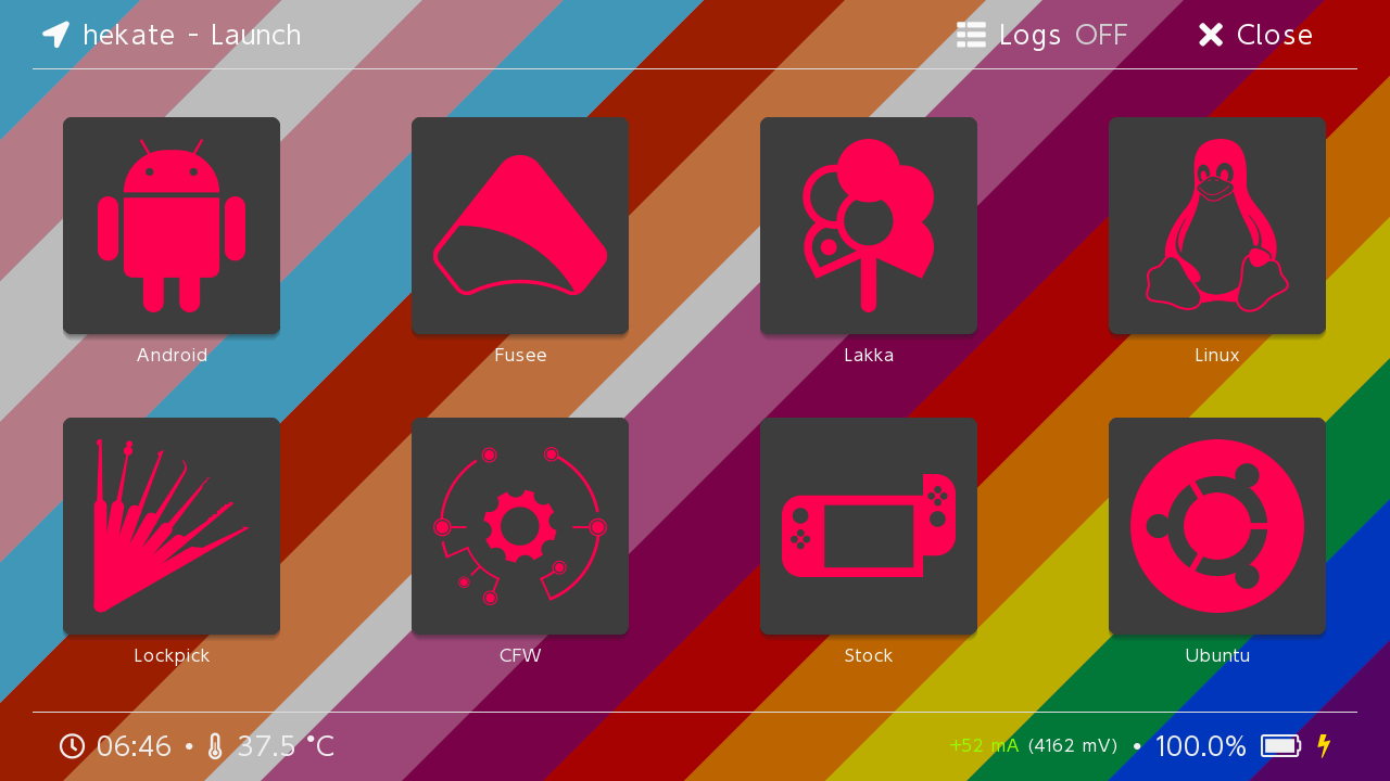 A preview of the hue icons.