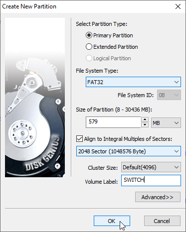 Creating your SD Card partition